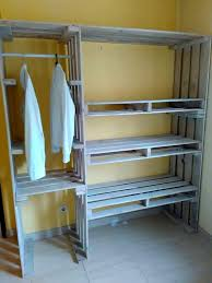 diy wood closet organizers beautiful pallet closet wardrobe made from pallets house