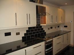 Cream Gloss Kitchen Modern Cream And Black Kitchen Quicuacom