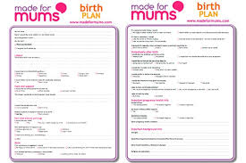 Birthing Plan Template Writing A Birth Plan Birth Plan Template Madeformums
