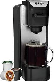 Mini, brew now or later, with water filtration and nylon reusable filter, coffee maker, black. Amazon Com Mr Coffee K Cup Coffee Maker System With Reusable Grounds Filter Silver Kitchen Dining