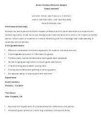 Host Resume Interesting Hostess Resume Examples Colbroco