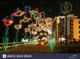 Holiday Lights At The Beach Virginia Beach Virginia Beach Virginia Atlantic Shore Oceanfront Holiday