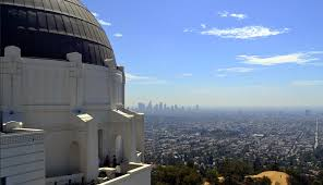 downtown los angeles skyline from griffith observatory