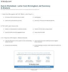quiz worksheet letter from birmingham jail summary analysis  print letter from birmingham jail summary analysis worksheet