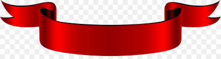 Red Ribbon Web Banner A Vintage Red Folding Ribbon Png