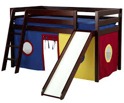 loft bed castle jackpot cherry low with slide and curtains playhouse beds tent kids furniture 2 castello