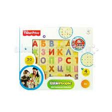 <b>Деревянная игрушка Fisher</b> Price кубики Алфавит - Акушерство.Ru