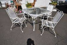Lot Of 6 Mid Century Wrought Iron Patio Suite By Woodard Woodard Wrought Iron Outdoor Furniture