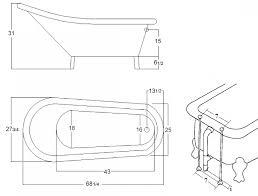 freestanding bathtub measurements