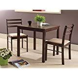 three piece dining set: kings brand furniture  piece dining room kitchen dinette set table amp  chairs