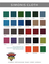 Cloth Colors Peters Billiards