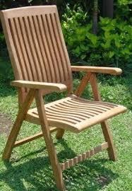 outdoor wooden dining chair. grade-a teak wood luxurious reclining folding arm / captain dining chair [model: outdoor wooden a