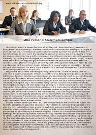 Professional Mba Statement Of Purpose Sample