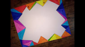 Geometrical Decoration Design For A4 Sheet Chart Board New Border Design Decoration With Ruler