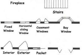 floor plan symbols stairs. Common Architectural Floor Plans Symbols For Doorways Plan Stairs