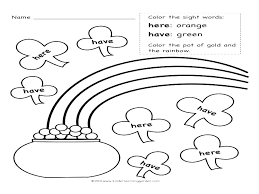 Sight Word Coloring Free Sight Word Coloring Pages Sight Word