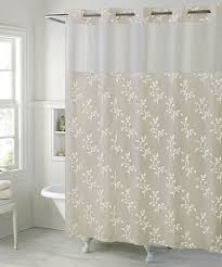 love this taupe spring leaves hookless shower curtain