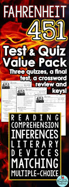 ideas about fahrenheit ray bradbury books fahrenheit 451 test and quiz value pack