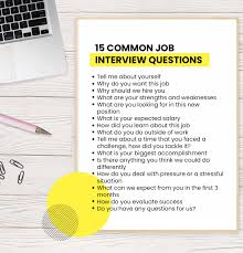 How To Answer Job Interview Questions 15 Common Job Interview Questions Youll Be Asked And How To