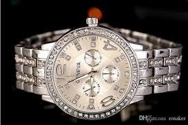 hot geneva stainless steel watch fashion metal quartz wrist weight 0 12kg
