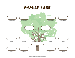 Family Tree Picture Template 3 Generation Family Tree Many Siblings Template Free