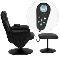 black leather massage chair. massaging black leather recliner and ottoman with wrapped base [bt-753p-massage-bk-gg] massage chair a