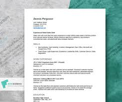 Resume Example For Retail To Help You Advance Your Career