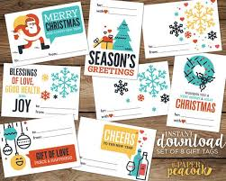 Avery Holiday Label 8 Christmas Gift Tags Instant Download Modern Quote