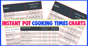 Electric Pressure Cooker Time Chart Pdf Instant Pot Cooking Times Free Cheat Sheets Instant Pot