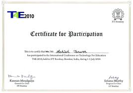 Conferences Ashish Tanwer International Conference Certificate
