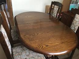 Dark Oak Extending Dining Table 6 Chairs By New Plan Furniture