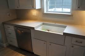 beautiful thick light grey concrete countertops for a home in dallas tx