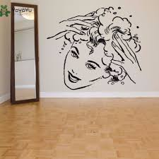 <b>YOYOYU</b> Hair Salon <b>Wall</b> Decal <b>Vinyl</b> Art <b>Wall Sticker Girl</b> Hair ...