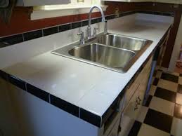 black and white tile countertops.  Countertops As  With Black And White Tile Countertops E