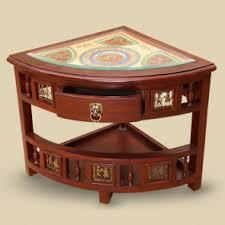 corner tables furniture. Quick View Teak Wood Corner Table With Dhokra \u0026 Warli Work Tables Furniture