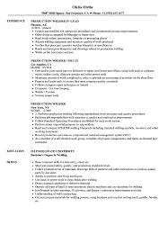 Welder Resume Welder Resume Cover Letter Samples Sample Canada Supervisor Job 90