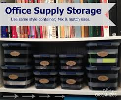 storage solutions for office. office supply storage u2026 use the same style of container but mix and match sizes solutions for