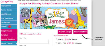 make your own birthday banner how to use the free banner design tool vinyl banner printing