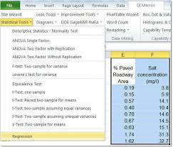 Statistics Worksheet Fascinating Excel Regression Analysis R Squared Goodness Of Fit
