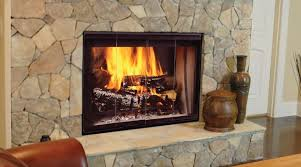 majestic dsr inch see thru radiant wood burning fireplace is on georgian astria fireplaces