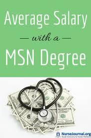 Average Salary With A Msn Nursing Degree 2018 Nursejournal