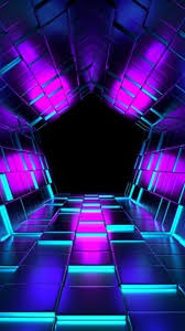 wallpaper iphone 6 3d. Exellent Iphone Preview Wallpaper Ubes Rendering Tunnel Purple With Wallpaper Iphone 6 3d