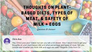 Q/A: Thoughts on Plant-Based Diets, Types of Meat, & Safety of Milk + Eggs