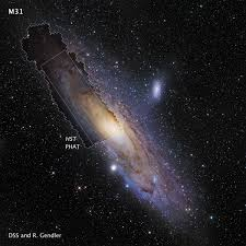 galaxies hd hubble. Beautiful Hubble The Hubble Space Telescope M31 PHAT Mosaic Image Is Shown In Context With A  Ground For Galaxies Hd E