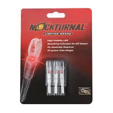 Nockturnal Gt Lighted Nocks Nockturnal Gt Red Lighted Nock 3 Pack Gold Tip Nt 102