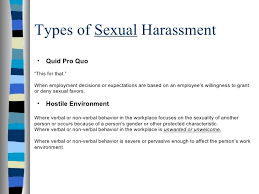 2 kinds of sexual harassment