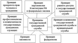 Курсовая работа Государственная гражданская служба на примере  Рисунок 4 Принципы государственной гражданской службы