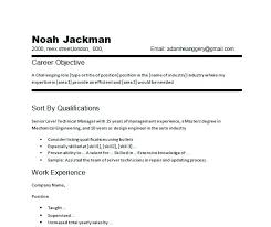 Career Objective Resume Job Resume Career Objective Examples Food Service Server Example