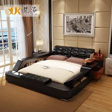 luxury bedroom furniture sets. luxury bedroom furniture sets modern leather queen size double bed with side storage cabinets tail