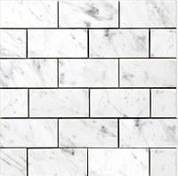 carrara carrera venato marble polished 3x6 subway tile 10
